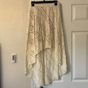 Willow & Clay high-low lace skirt
